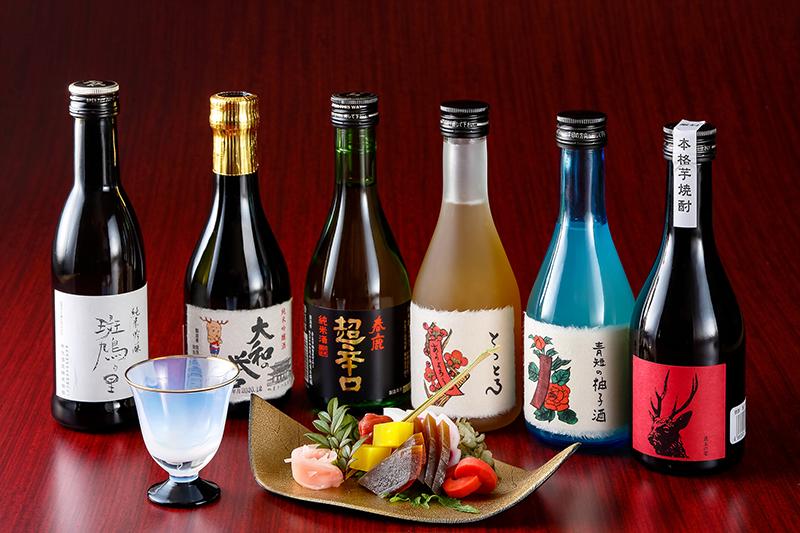 お一人様8,000円・選べる奈良の地酒1本とお漬物盛り合わせ付
