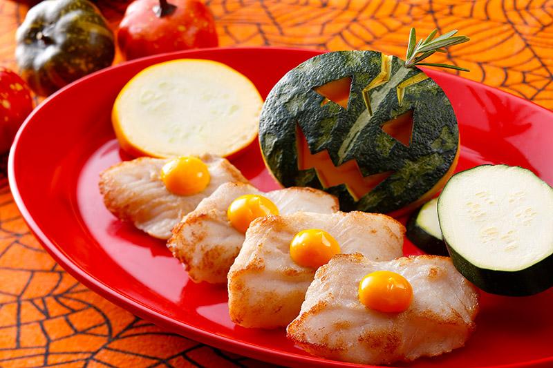 白身魚のポワレ パンプキンクリームソース